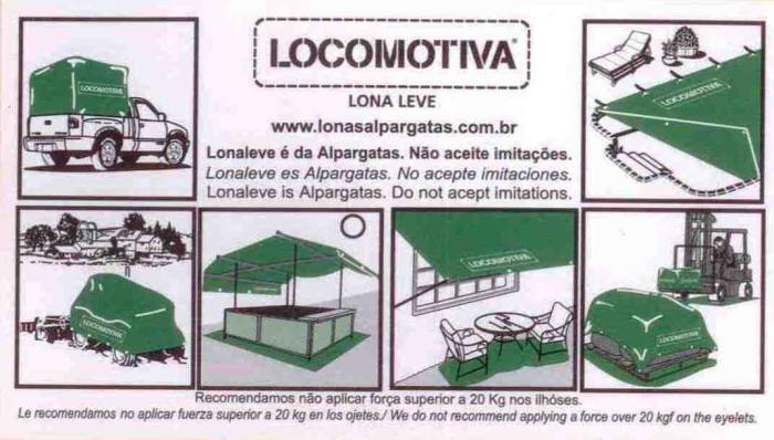 Recomendações de Conservação Locomotiva Lona Leve